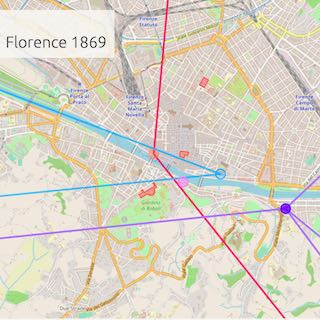 Travel map of Florence