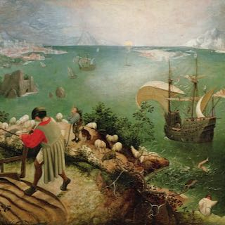 Detail from Breughel's Landscape with the Fall of Icarus